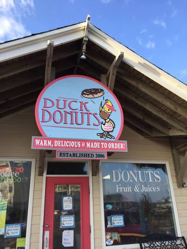 Duck Donuts across from our hotel!